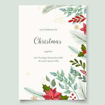 クリスマスパーティーの招待状のテンプレート