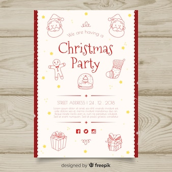 Шаблон приглашения на рождественскую вечеринку