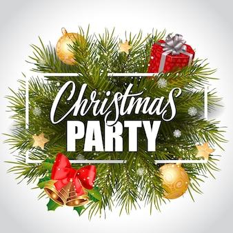 Рождественская вечеринка в рамке