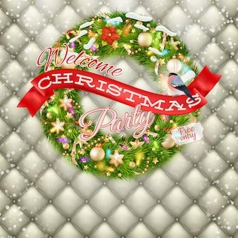 クリスマスパーティーのポスター-休日の挨拶とウソ。