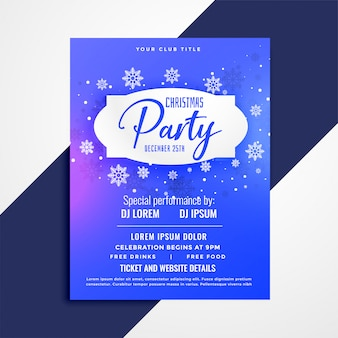 Christmas party poster invitation template design