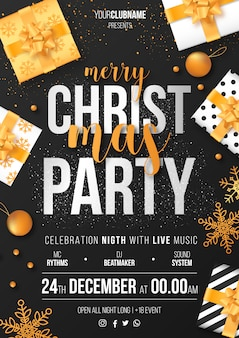 Christmas Party Poster Template Ready to Print