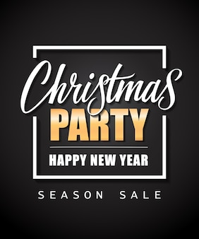 Christmas party season sale lettering