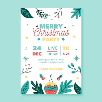Christmas party template poster