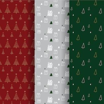 クリスマスパターンの背景コレクション