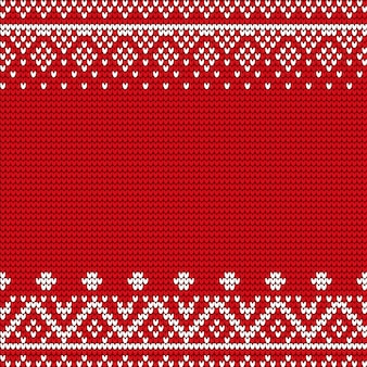 Christmas pattern background with embroidery
