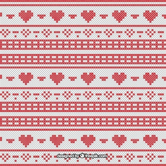 Christmas pattern in cross-stitch style