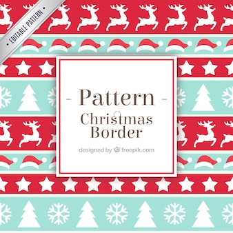 Christmas pattern elements