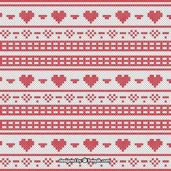 クロスステッチのスタイルのクリスマスパターン