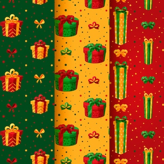 Christmas pattern pack with gifts