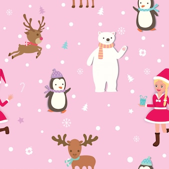 Christmas-pattern-pink