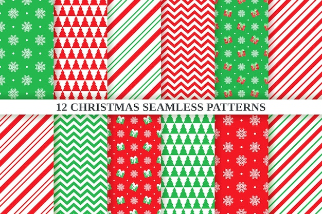 Christmas pattern.  seamless background. holiday xmas, new year festive texture. abstract, geometric textile print with zigzag, snowflake, polka dot, candy cane stripe.