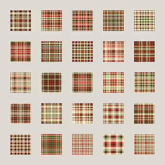 Christmas pattern seamless . check plaid fabric texture effect. set holiday background, wrapping paper, gift cover.