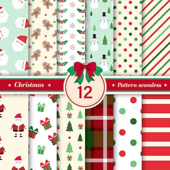 Christmas pattern seamless collection.