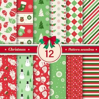 크리스마스 패턴 완벽 한 컬렉션입니다.