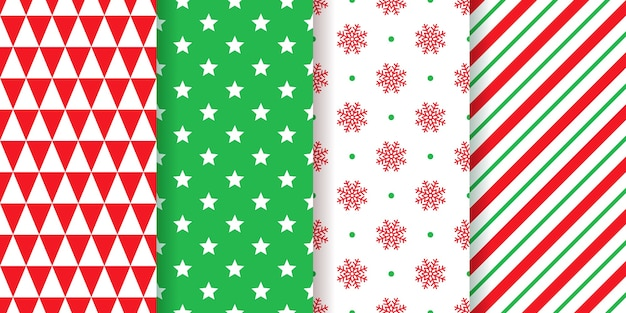 Christmas pattern. seamless texture wrapping paper. xmas, new year background. set festive print