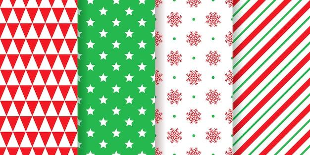 クリスマスのパターン。シームレステクスチャ包装紙。クリスマス、新年の背景。お祝いのプリントを設定する