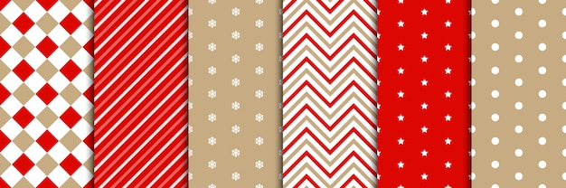 Christmas pattern set  in minimal style