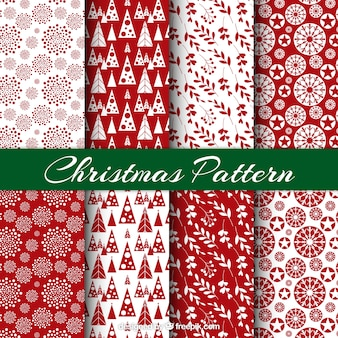 Christmas pattern set with motifs