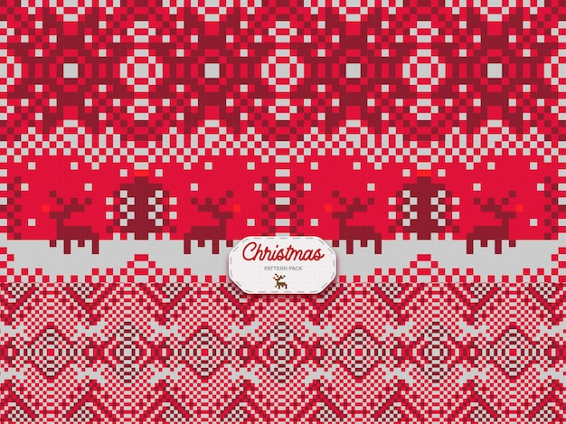 Christmas pattern triple pack