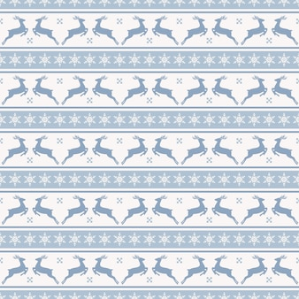 Christmas pattern with deers seamless background