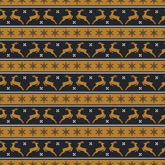 Christmas pattern with deers. seamless  .