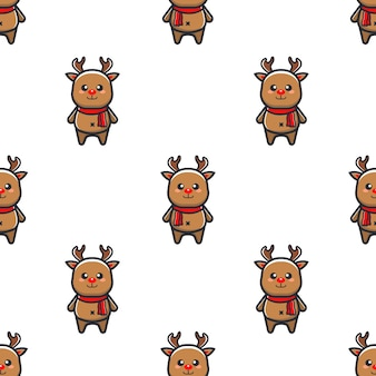 Christmas pattern with reindeer
