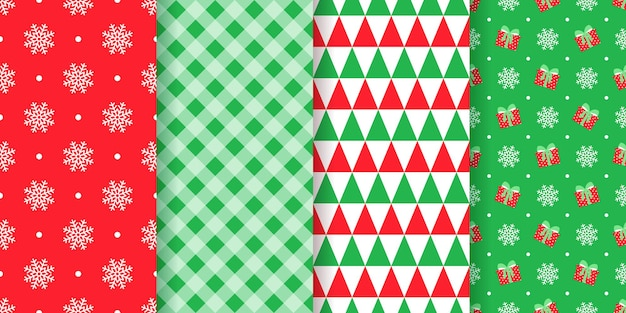 シームレスなイラストのクリスマスパターン