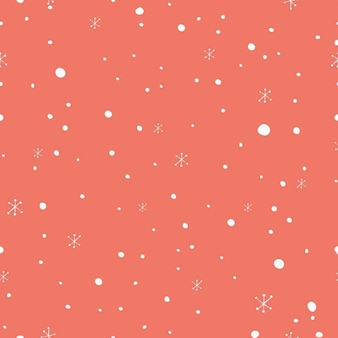 Christmas pattern with snow