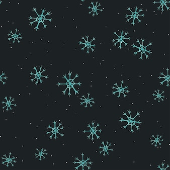 Christmas pattern with snowflakes. watercolor