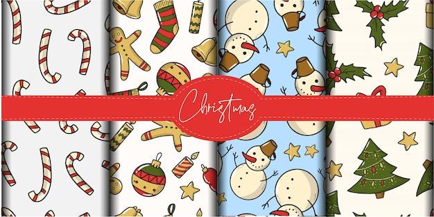 스크랩북 및 벽지용 크리스마스 패턴