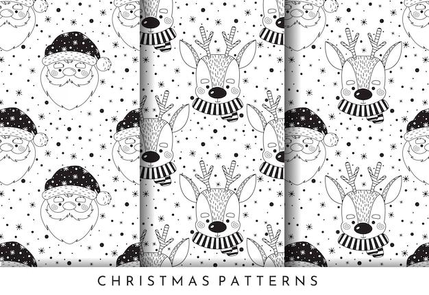 Christmas patterns.