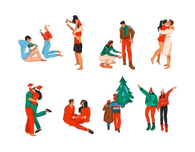 Christmas people set