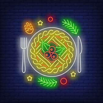 Christmas pie neon sign