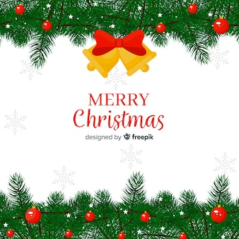 Christmas pine branches background