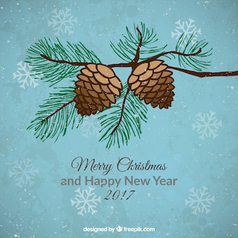 Christmas pine cones background