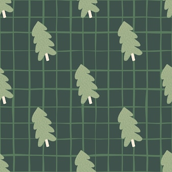 Christmas pine tree seamless pattern. for fabric design, textile print, wrapping, cover. vector illustration.