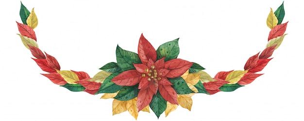 Рождественская гирлянда пуансеттия