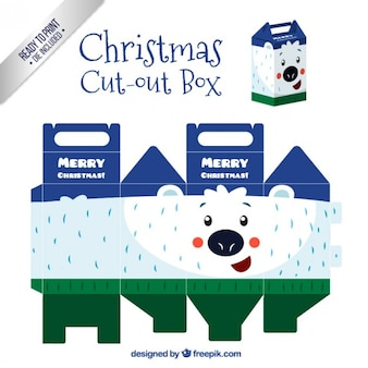 Christmas polar bear cut out box