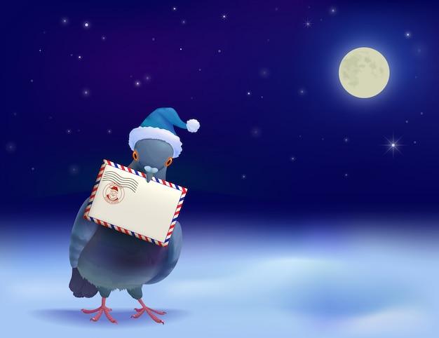 크리스마스 포스트 비둘기