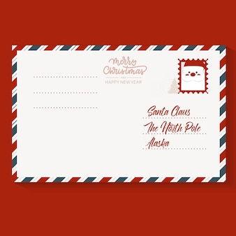 Christmas postage stamp letter