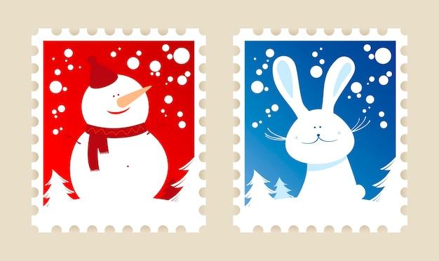クリスマス切手セット。
