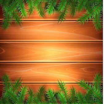 トウヒの木の小枝のイラストとクリスマスポスターの背景
