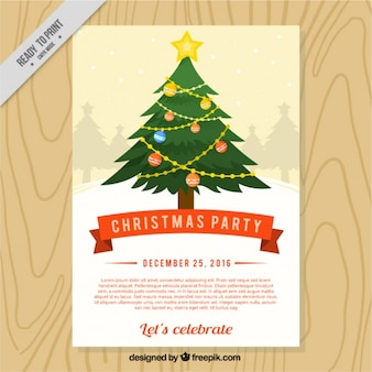 Christmas poster with a beautiful tree
