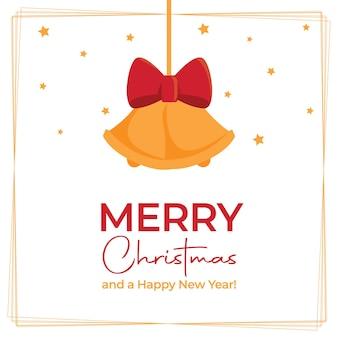 Рождественский постер с вектором колокольчики