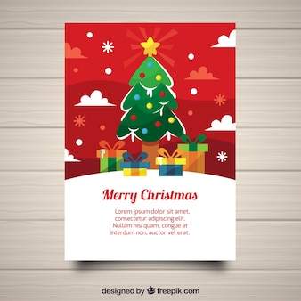 Christmas poster with cute style