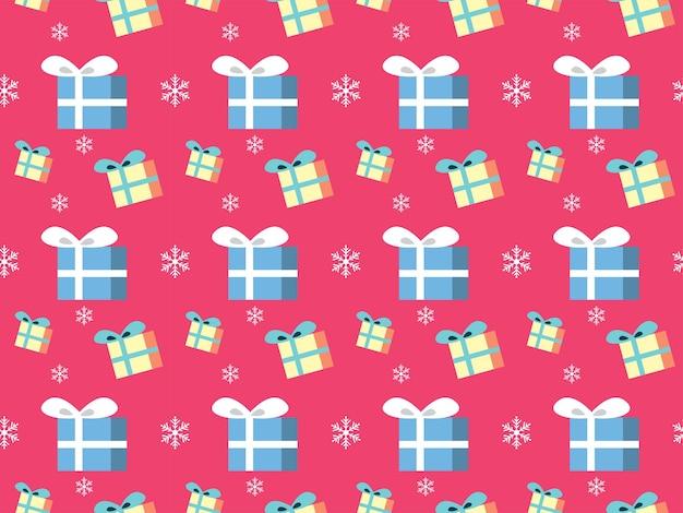 クリスマスプレゼントボックスギフトパターンクリスマスイラスト