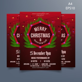 Christmas present flyer template