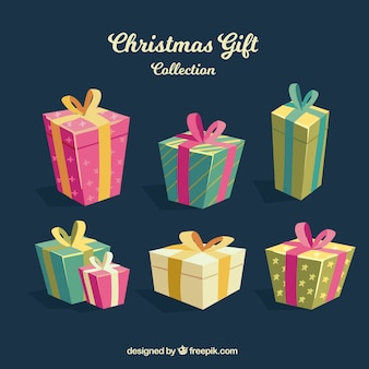 Christmas presents in flat design