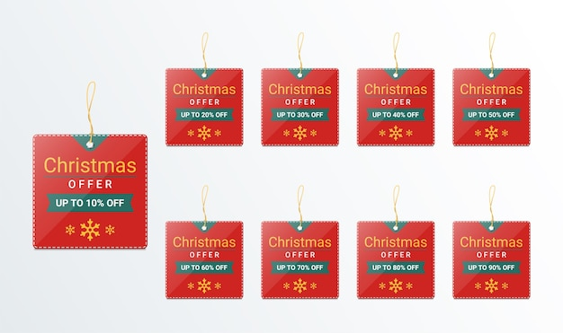 Christmas price tag design template for promotion